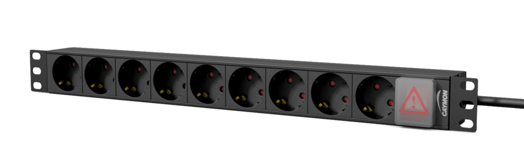 "PSR109GS - 19"" power distribution unit - 9 x German sockets + front switch"