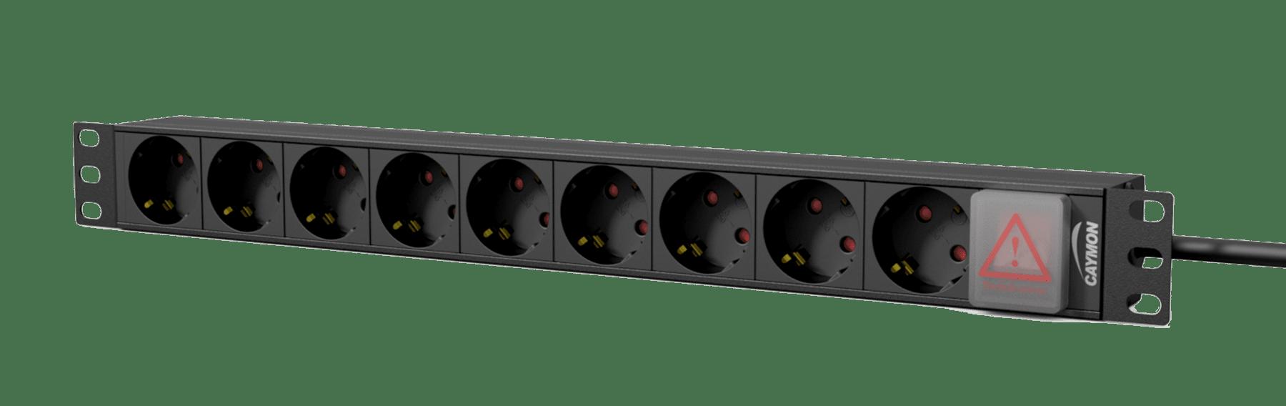"PSR109GS - 19"" power distribution unit - 9 x German sockets + front switch"