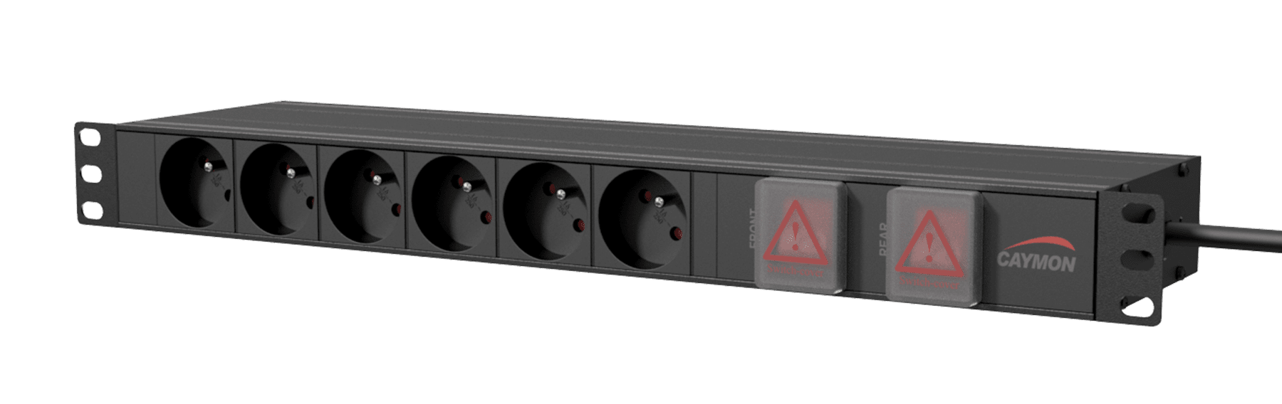 "PSR269FS - 19"" power distribution unit - French 6 x front sockets + 9 x rear sockets - Double switched"