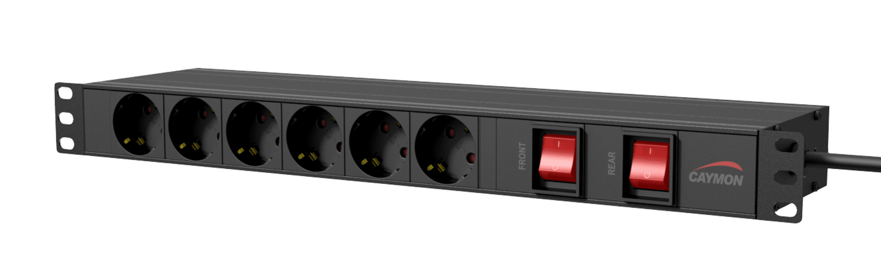 """PSR269GS - 19"""" power distribution unit - German 6 x front sockets + 9 x rear sockets - Double switched"""