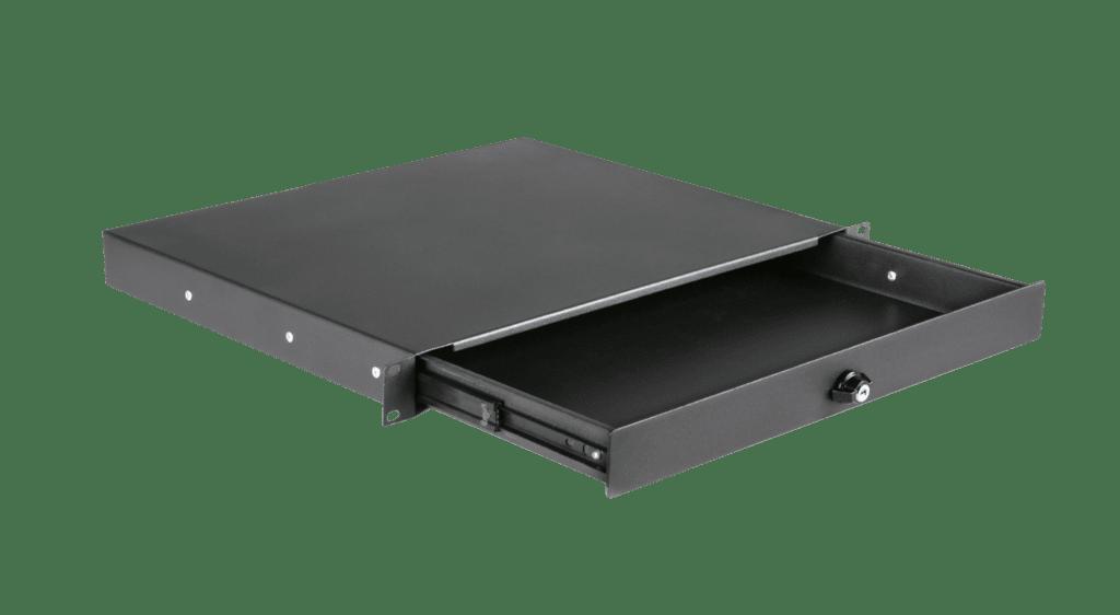 "RD110L - 19"" rack drawer - 1 unit with key lock"