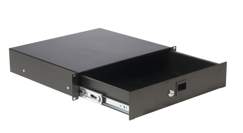 "RD210L - 19"" rack drawer - 2 unit - with key lock"
