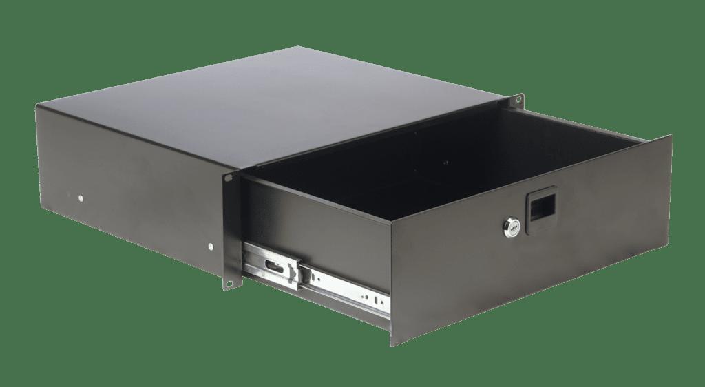 "RD310L - 19"" rack drawer 3 unit - with key lock"