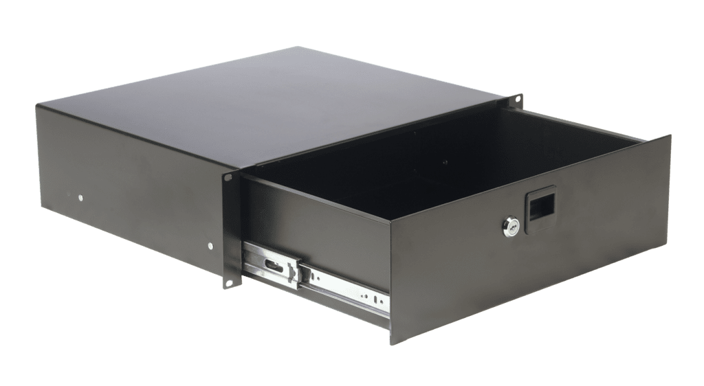 "RD312L - 19"" rack drawer - 3 unit with key lock"