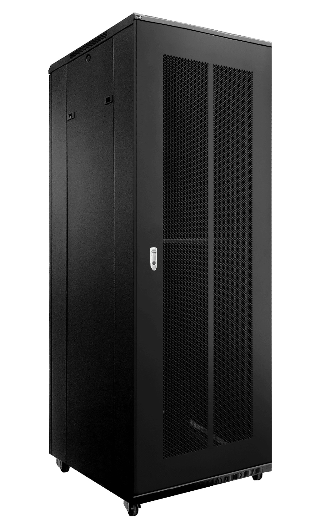 "SPR8842GG - 19"" rack cabinet - 42 units - 800mm W x 800mm D - Grill front & rear door"