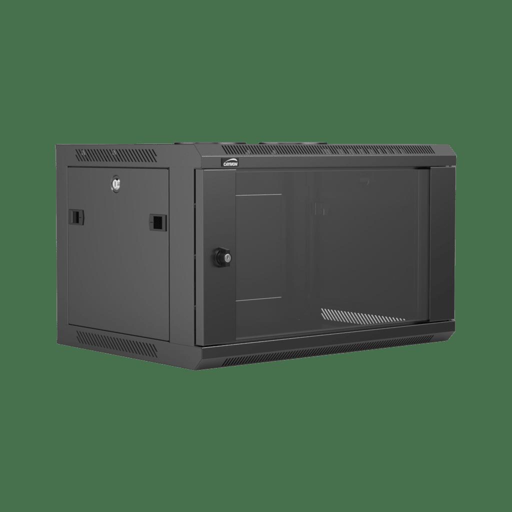 "WPR406R - 19"" wall mount rack - 6 units - 450mm depth - Removable back"