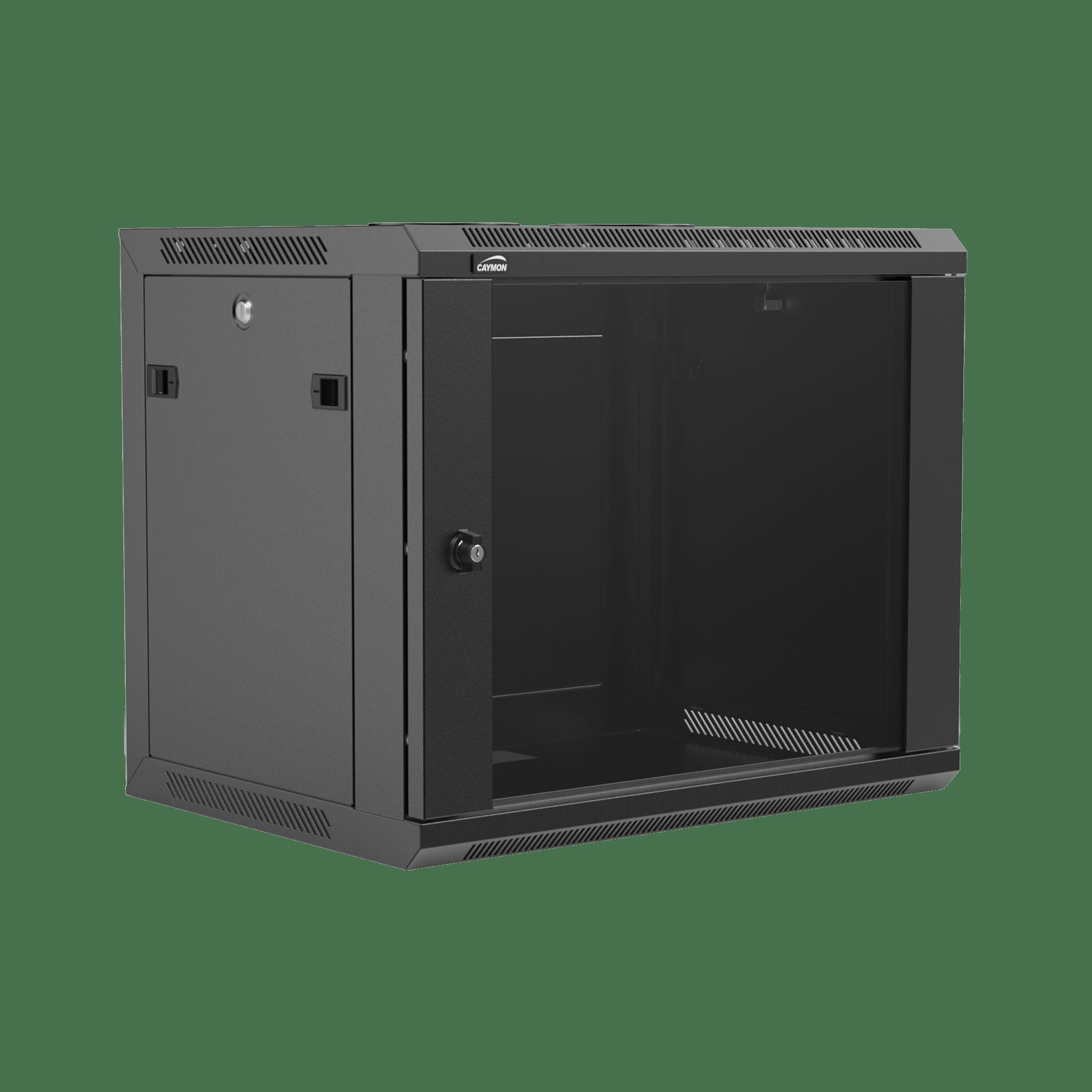 "WPR409R - 19"" wall mount rack - 9 units - 450mm depth - Removable back"