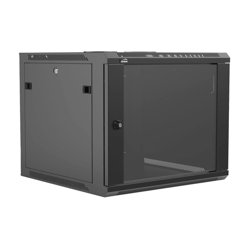 "WPR609R - 19"" wall mount rack - 9 units - 600mm depth - Removable back"