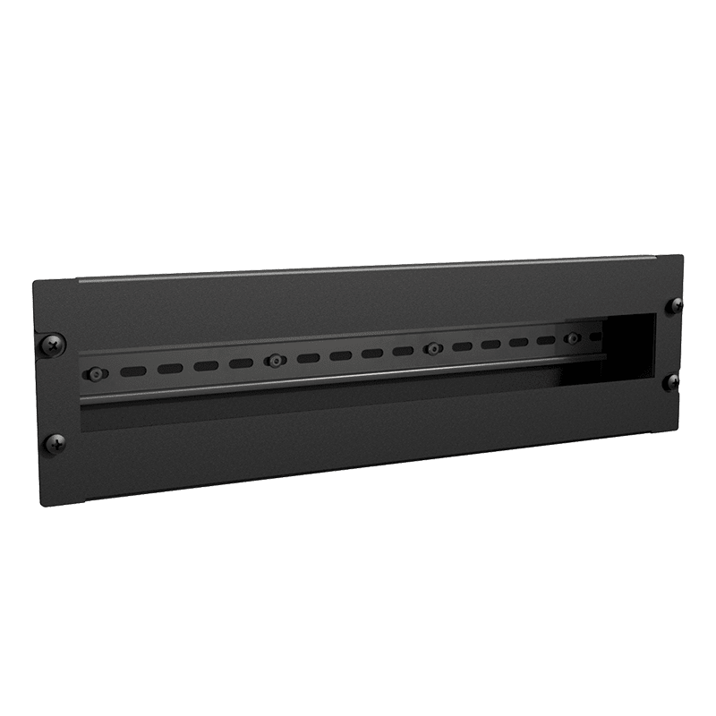 "BDR03 - 19"" DIN rail mounting unit for 24 modules - 3HE"