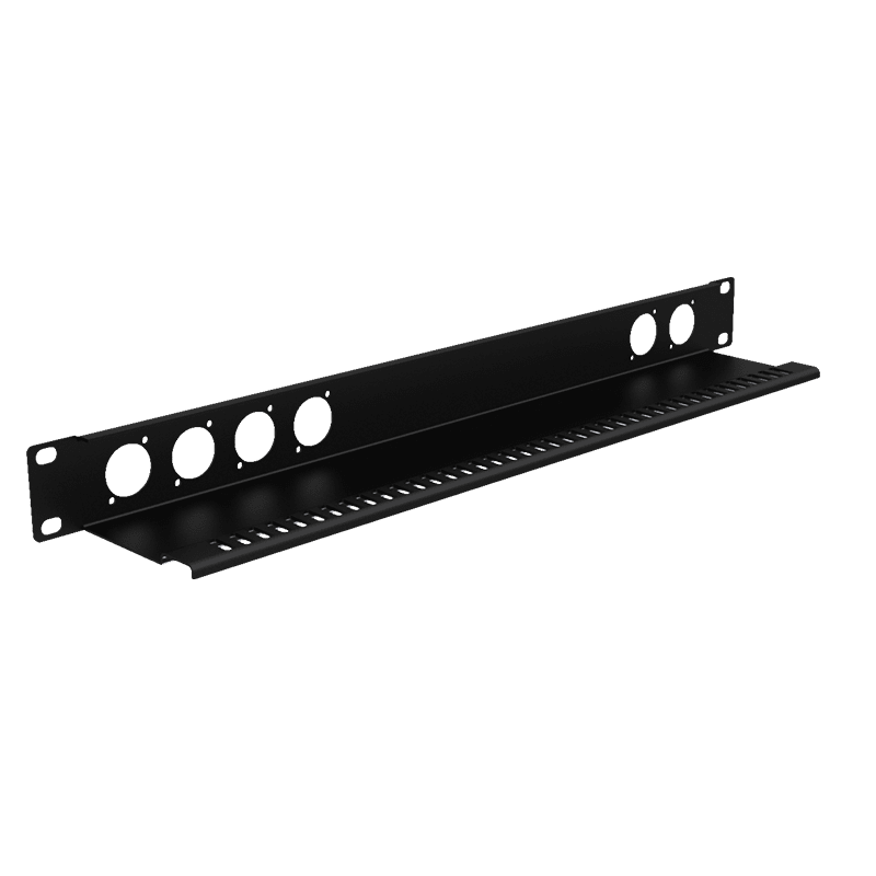 "BP106T - 19"" blind panel with tension relief - 1HE - 6x D-size"