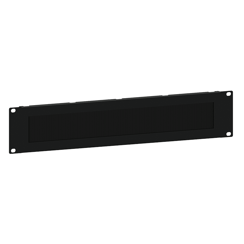 """BSB02 - 19"""" blind panel with brush - 2HE"""