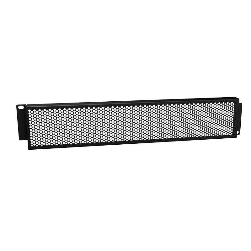 "BSG02H - 19"" grill security panel - 2HE - with hexagonal perforation"
