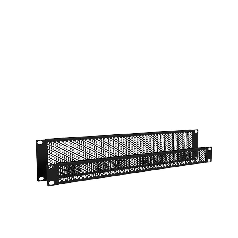 "BSVH Series - 19"" ventilated blind panel with hexagonal perforation"