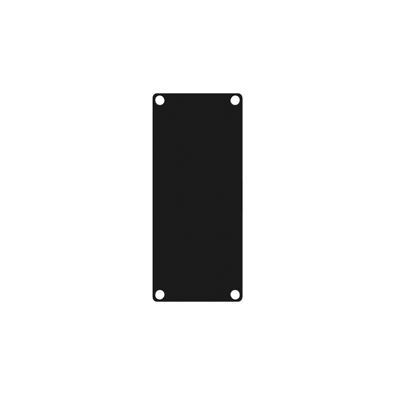 CASY101A - CASY 1 space closed aluminum blind plate