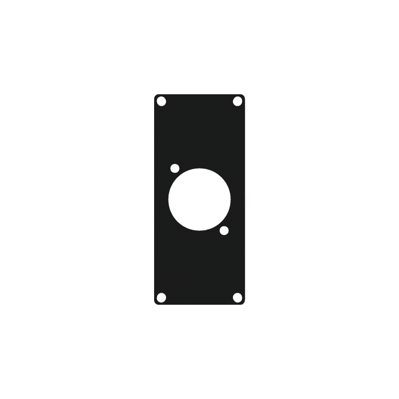 CASY103 - CASY 1 space cover plate - 1x D-size hole