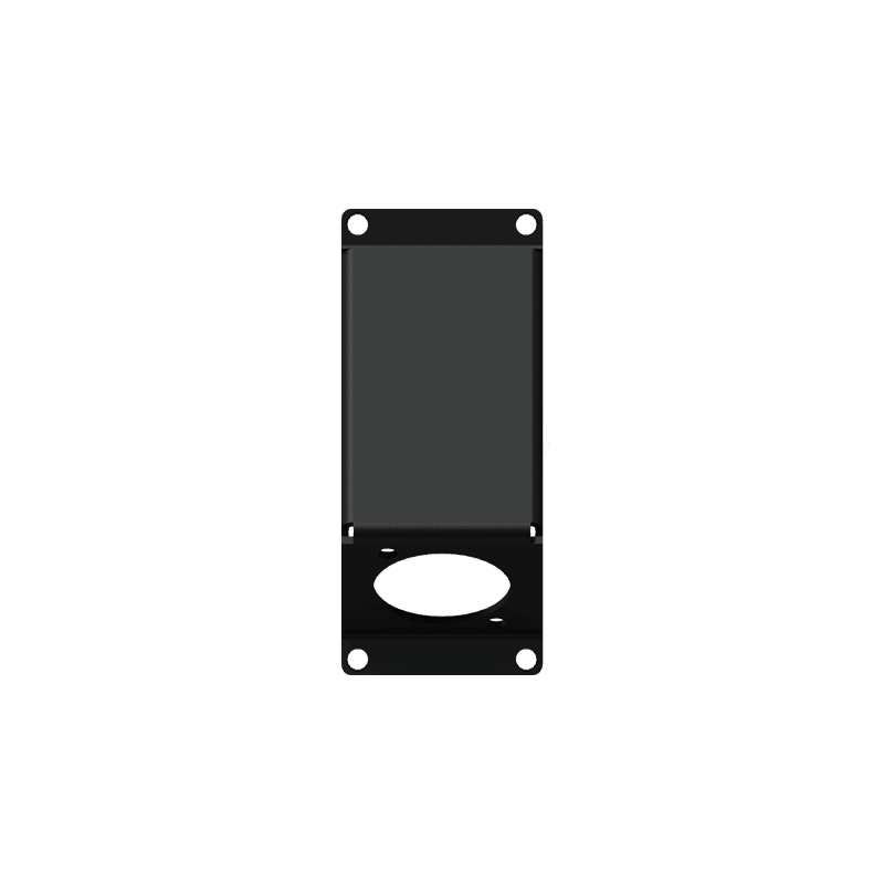 CASY104 - CASY 1 space angled cover plate with D-size hole