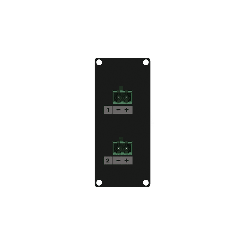 CASY148 - CASY 1 space speaker level 2x 2-pin terminal block to 2-pin terminal block
