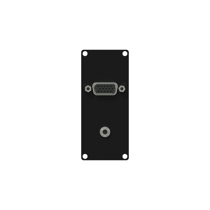CASY151 - CASY 1 space VGA & 3.5mm female jack