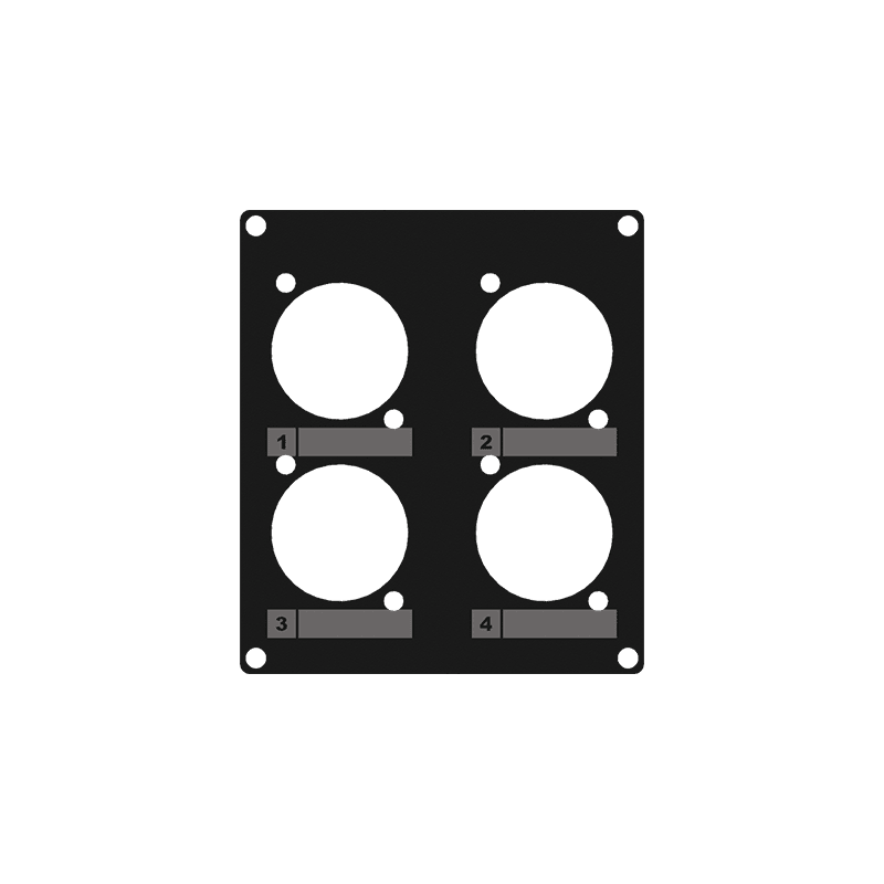 CASY203 - CASY 2 space cover plate - 4x D-size holes
