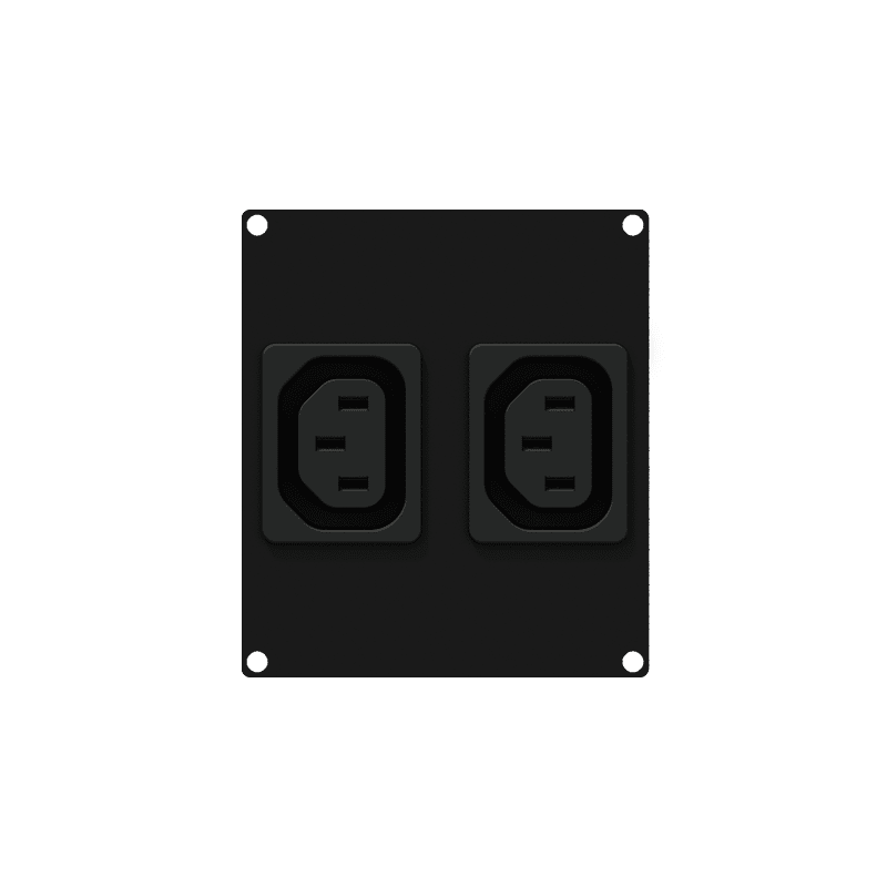 CASY282 - CASY 2 space 2x euro power outlet socket