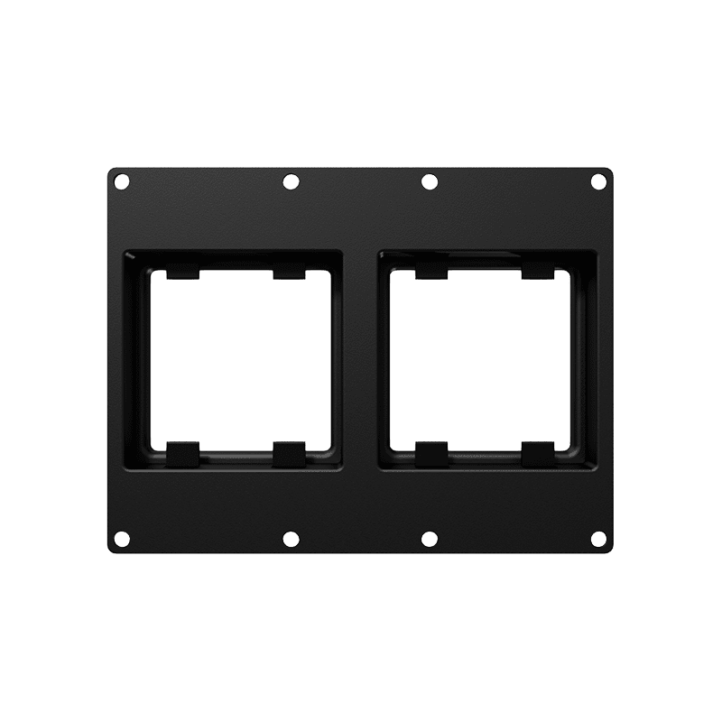 CASY303 - CASY 3 space double 45x45 mm module plate