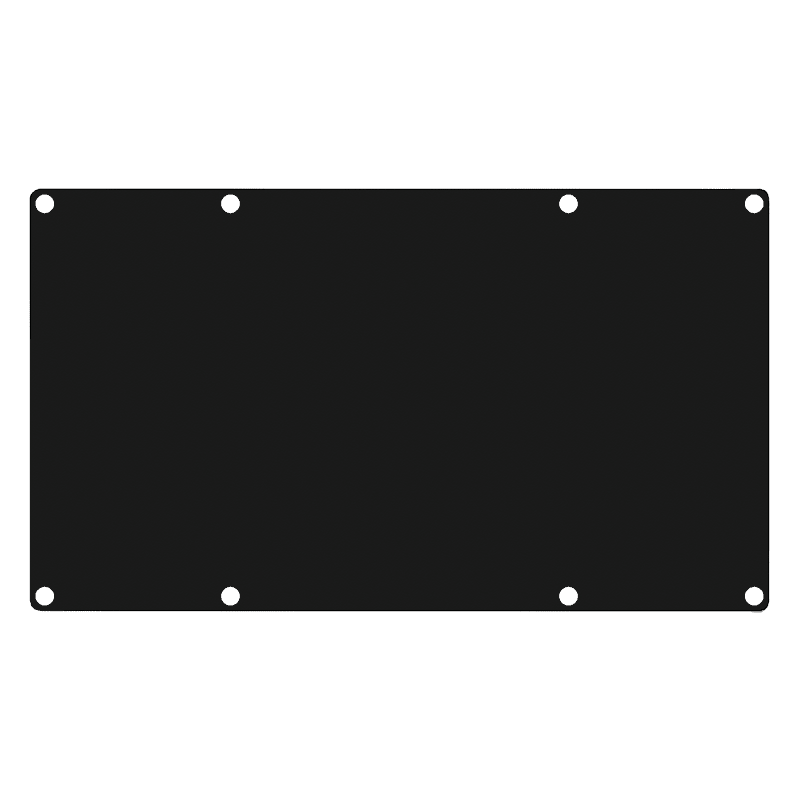 CASY401 - CASY 4 space closed blind plate