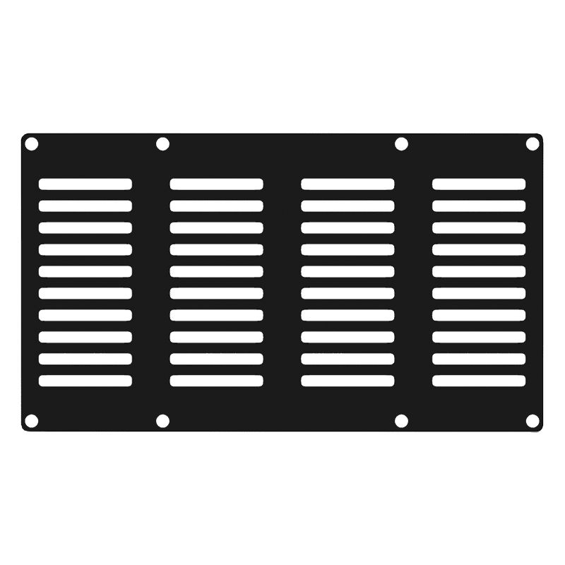 CASY402 - CASY 4 space vented blind plate