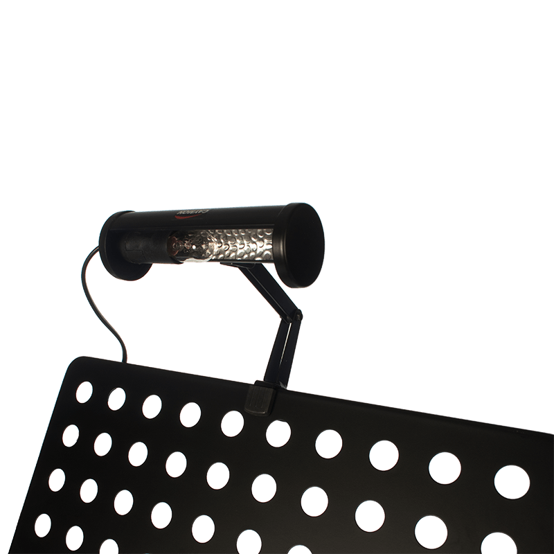 CST122 - Classic music stand light with black light shade.