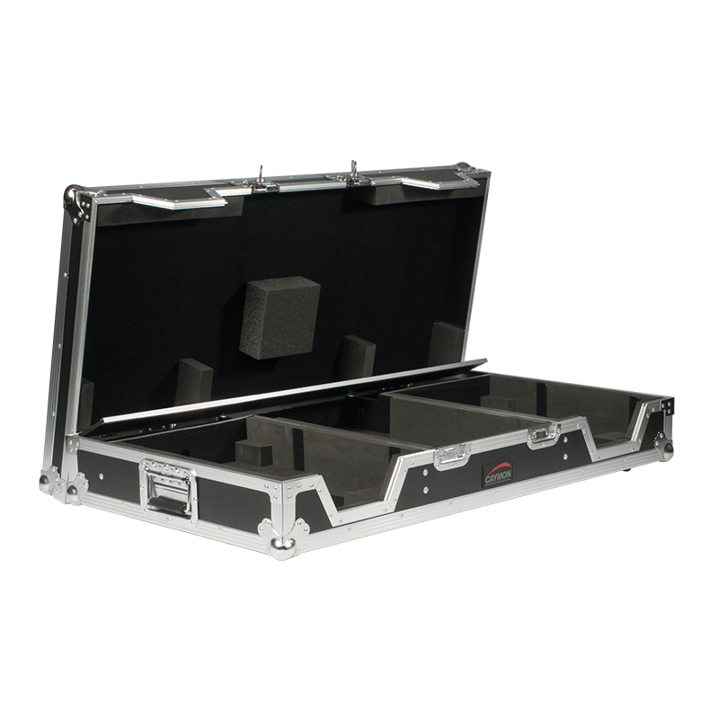 FCDJ2200 - Flightcase for pioneer DJM-2000 mixer with 2 pioneer players