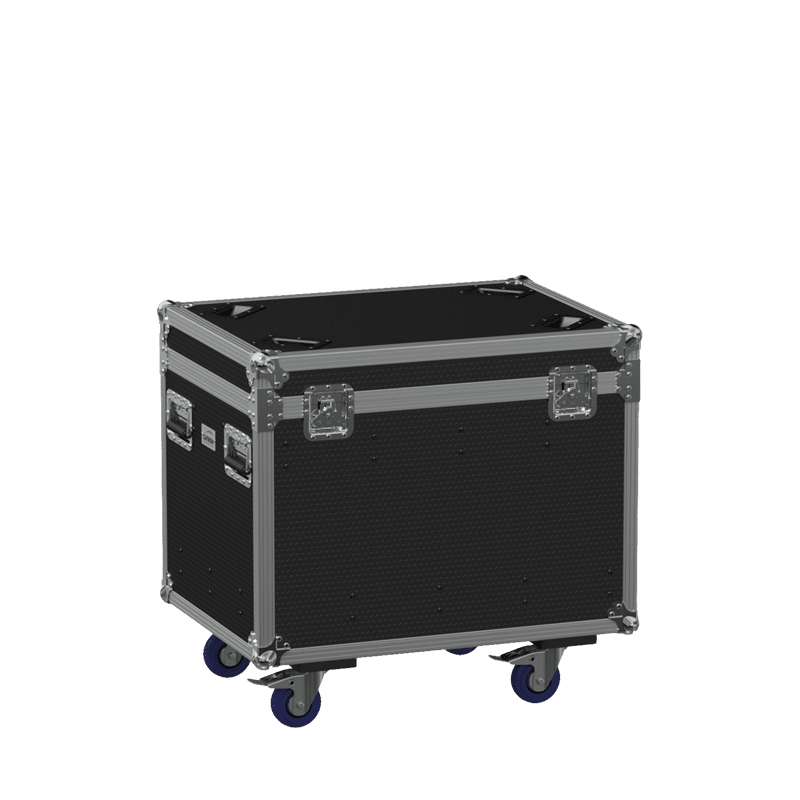 FCE086HD - Flightcase EURO with hinged cover and divider profile - Wheels included