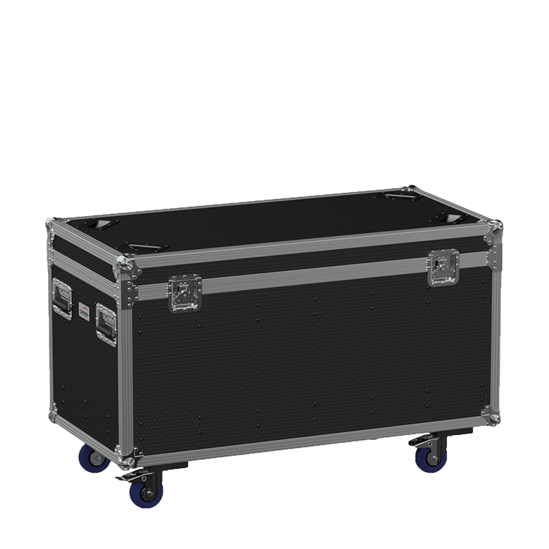 FCE126HD - Flight case euro 1200x600x620mm with hinge cover + divider profile - wheels included