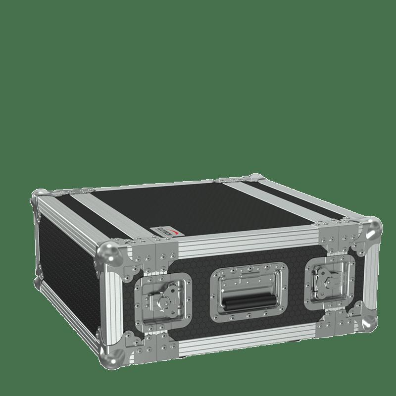 "FCX104MK2 - 19"" flightcase - 4HE - 360mm depth - 19"" mounting profile on front & rear"