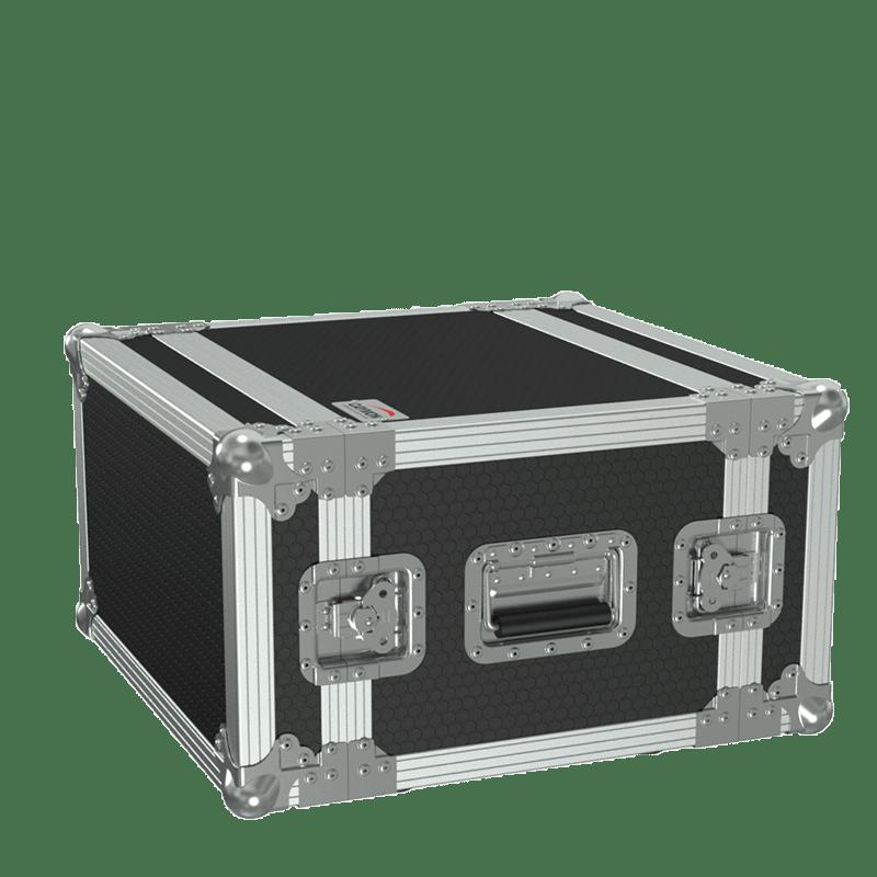 "FCX106MK2 - 19"" flightcase - 6HE - 360mm depth - 19"" mounting profile on front & rear"