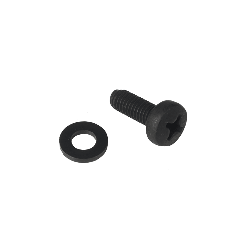 KS500 - Bolt M5 x 16mm DIN7985 black phosphated + nylon washer