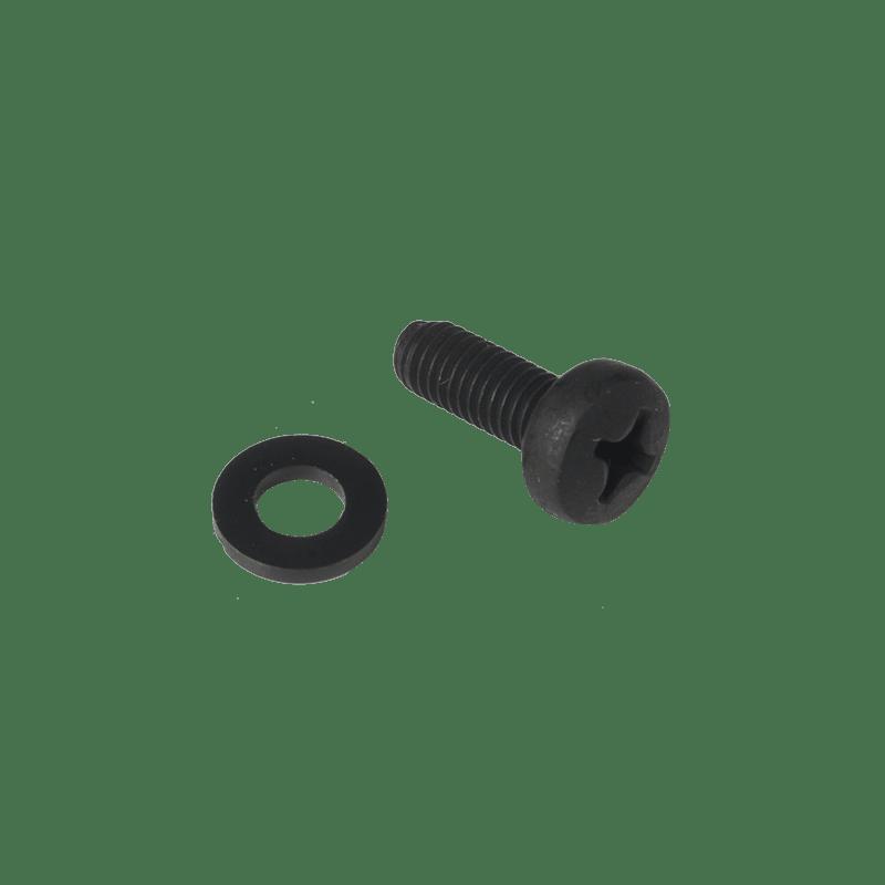 KS500 - Bolt M5 x 16mm DIN7985 black phosphated + nylon washer