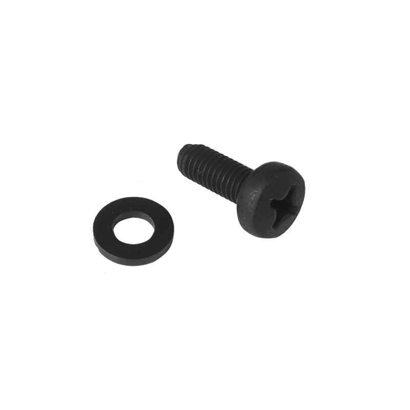 KS600 - Bolt M6 x 16 mm DIN7985 black phosphated + nylon washer