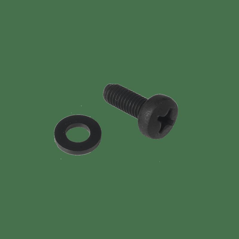 KS600 - Bolt M6 x 16 mm DIN7985 black phosphated + nylon washer