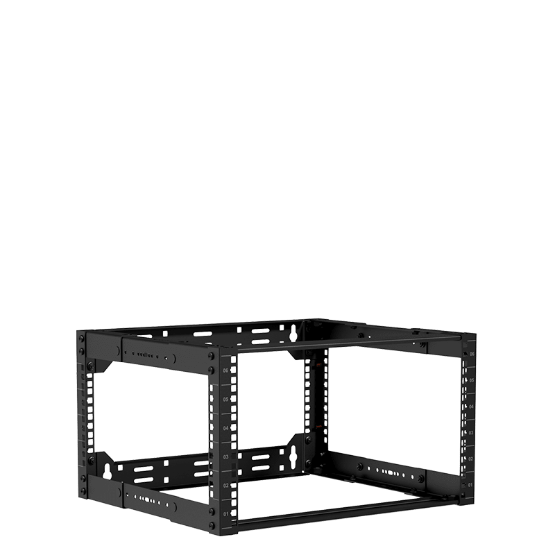 "OPR306A - 19"" in depth adjustable open frame rack - 6 unit - 300 ~ 450mm"