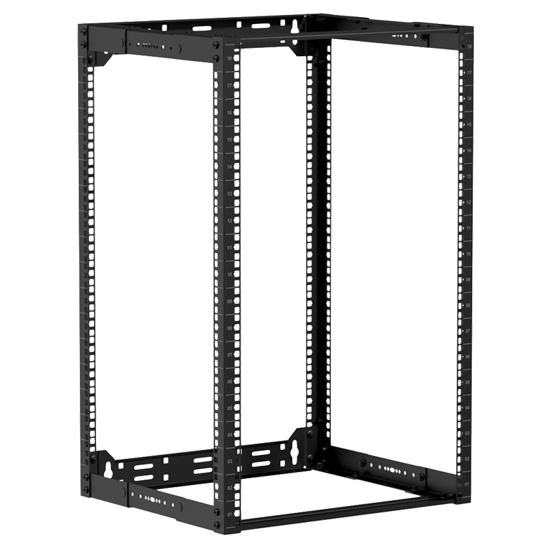 "OPR318A - 19"" in depth adjustable open frame rack - 18 unit - 300 ~ 450mm"