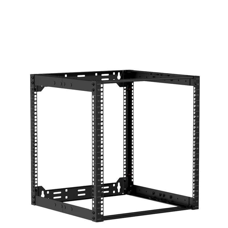 "OPR512A - 19"" in depth adjustable open frame rack - 12 unit - 500 ~ 700 mm"
