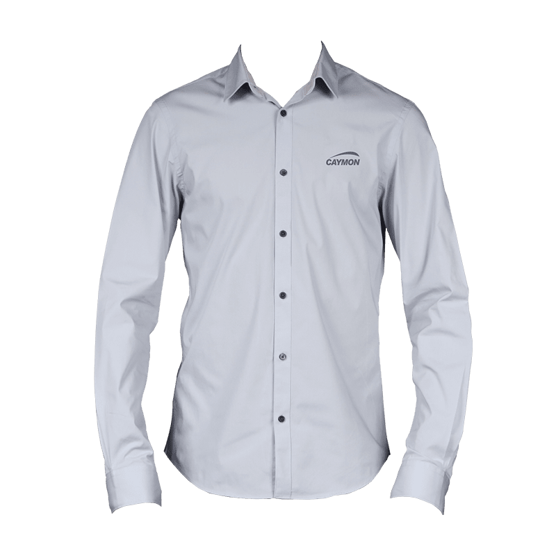 PROMO412x - CAYMON promotion shirt grey with embroidered logo