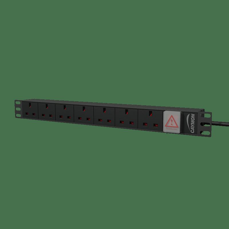 "PSR107UKS - 19"" power distribution unit - 7x UK sockets + front switch"