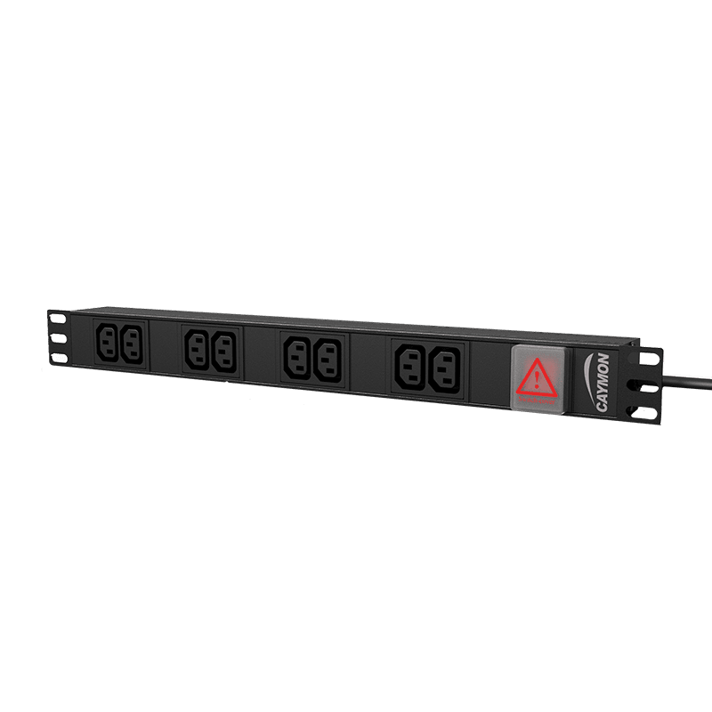 "PSR108ES - 19"" power distribution unit - 8x IEC C13 socket + front switch"
