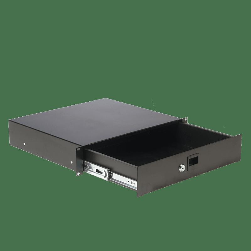 "RD212L - 19"" rack drawer - 2 unit - with key lock"