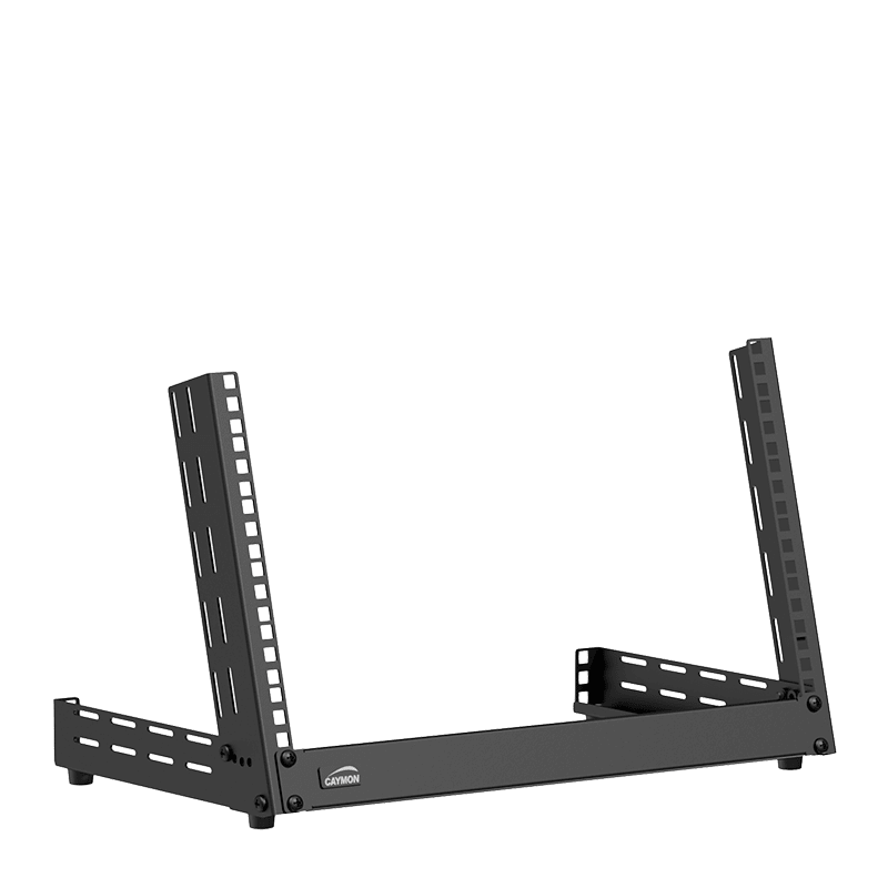 TPR306A - Desktop open frame rack - 6 units - Adjustable angle 0°~15°