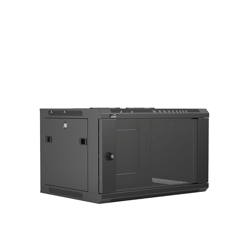"WPR406R - 19"" wall mount rack - 6 units - 450mm depth - Removable back"