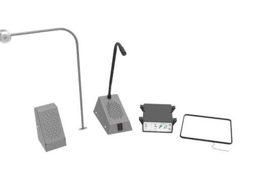 STS-K058 - Speech System with Bent Screen-Mounted Microphone