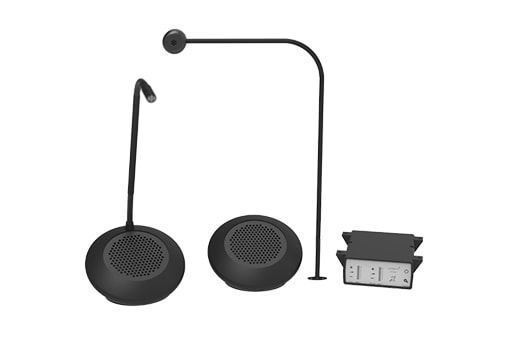 STS-K072 - Speaker Pod and Screen Mounted Microphone System