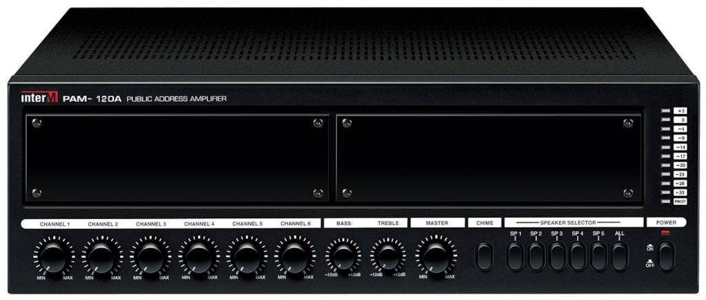PAM120A - Modular mixing amplifier 120w100v