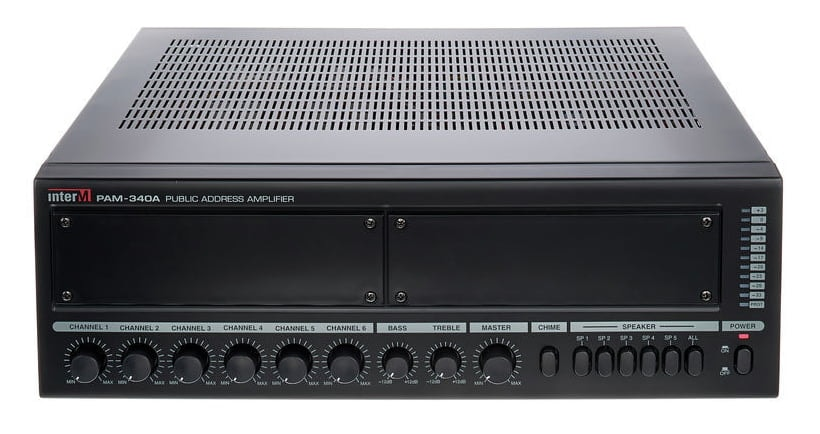 PAM340A - Modular mixing amplifier 340w100v